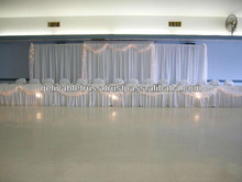 velvet stage curtains and aluminum stand for sale