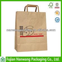flat handle kraft paper bag,paper bags with flat handle,flat paper handle bags