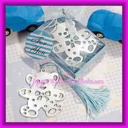 Wedding Favors Lovable Blue Teddy Bear Design Book Mark