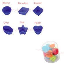 SS4005 Different Shape Food Grade mini silicone cupcake mold