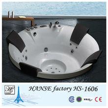 HS-1606T deep soak tubs/whirlpool tub air controls/big sexy massage bathtub