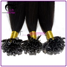 Remy Brazilian Hair fusion easy move keratin glue human remy pre-bonded stick tip hair extenisons