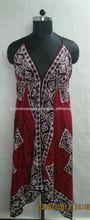 Batik Rayon printed scarf dress