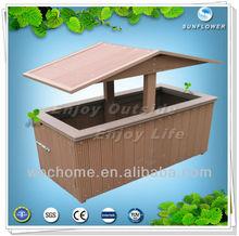 WPC Dustbin/ Gardening Dustbin/wood plastic composite dustbin