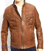 Genuine Leather Jacket Movie Looper Bruce Willis Fix Custom made
