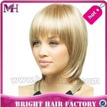 Fashion high temperature fiber lace front synthetic wig with baby hair