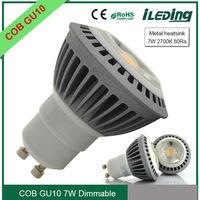 200-240V 7W Dimmable COB GU10 LED Lamp