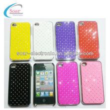 Luxury Bling Crystal Rhinestone Aluminum Case for Iphone 4 4S