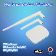 2W high power, 5dBi SMA external antenna, 5X range than standard mac usb wireless network adapter