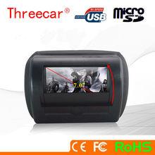VP Hot sale Motorized slide shield 7 inch touch screen headrest car dvd player