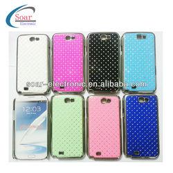Hot Sell Diamond Crystal Chrome Hard Case for Samsung Galaxy Note II N7100