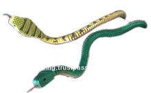 holding wooden snake