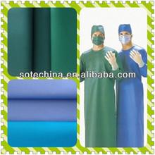 """SOTE Professional Surgical Gown Fabric Hospital Uniform Fabric - TC plain 65/35 21*21 100*52 57/58"""" - 2015 HOT SALE TEXTILE"""