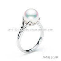 platinum akoya pearl ring akoya pearls gem jewellery