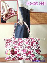 Thai cotton fabrics tote bag flowers design