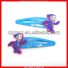 London 2012 unique 3d soft pvc hair clip for Olympic Games (MYD-1108)