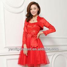 Women dress,red wedding dress,party dress for girls