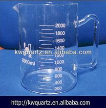 clear quartz graduated glass beaker handle price