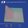 2014 preço de fábrica cor 280mm*241mm computador papel autocopiativo para impressora matricial de papel