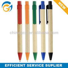 Promotion Paper Barrel Plastic Clip Ball Pen
