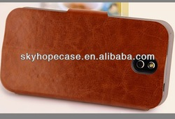 Right Left Flip Leather Case Stand for Mobile phone