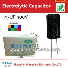 47UF400V High voltage Aluminium Electrolytic capacitor