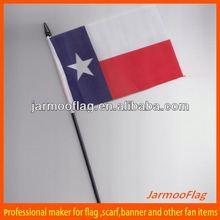 custom waving Texas US state hand flag