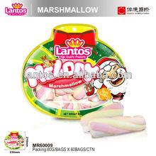 LANTOS Brand 80G TWIST COLORED MARSHMALLOW