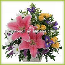 White wicker rattan flower basket for gift