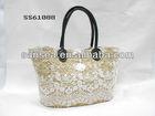 fashion lace straw bag