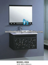 Aluminium alloy metal black wall bathroom vanity 2004
