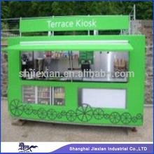 2014 Newly Big wheel big window Fibreglass Street Food Service Trolley
