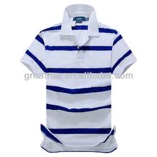 2013 Fashion 100% Cotton Two Color Polo Shirt