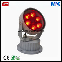 christmas color changing outdoor led flood light 6W Epistar AC85-265 492lm IP66 led colored flood lights (W/R/Y/G/B )