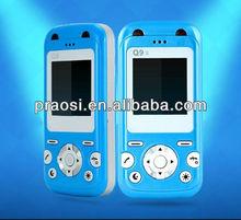 unlocked GSM mini cute GPS tracker baby mobile Q9,FM,MP3,Bluetooth kids phone