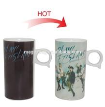 Hot! Color Changing Mugs Ceramic Q 15OZ for Creative Item