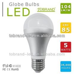 104lm/w high CRI 85 5630smd led bulb zhongtian