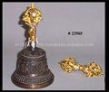 Bronze tibetano sinos e banhado a ouro Doorji