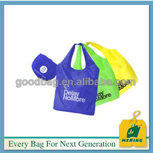 Heave Duty Nylon Folding Shopping Bag with Pouch