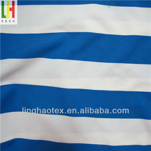 100 Polyester microfiber blue and white stripe fabric