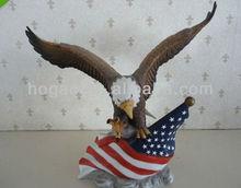American resin eagle sculpture