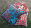 VELVET PATCH WORK INDIAN HOME DECOR CUSHION COVER & PILLOW-THROW-QUILTS