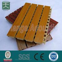 Soundproofing acoustic mdf cherry wood veneer panel