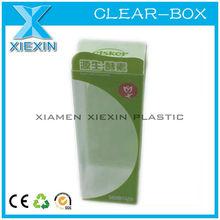 custom logo clear box plastic pet