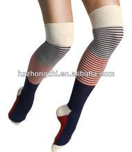 Trendy women stripe slimming knee high socks/stockings