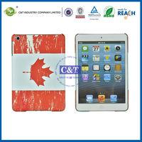 C&T Flag pattern plastic hard back cover case for ipad mini tablets