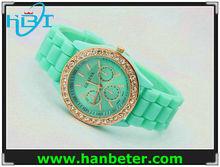 Women men wholesale geneva rhinestone watches
