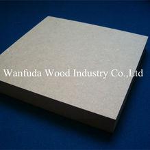 12 - 18 mm popular Natural madeira MDF painel placa Plain MDF de MDF cru