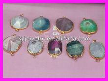GZKJL-CT0008 Wholesale Crystal quartz, unique agete stone ,druzy agate gold beads gemstone bead