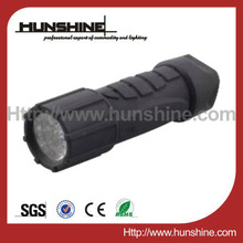 abs+ rubber 9 bright light led torch